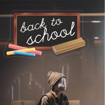 Chalkboard Back To School Sticker
