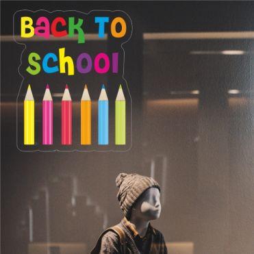 Coloured Pencils Back To School Sticker