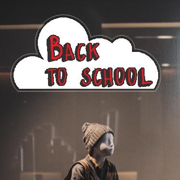 Cloud Back To School Sticker