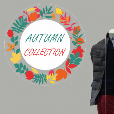 Wreath Autumn Collection Sticker