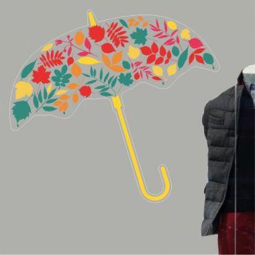 Colourful Umbrella Sticker