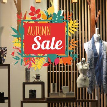 Framed Autumn Sale Sticker