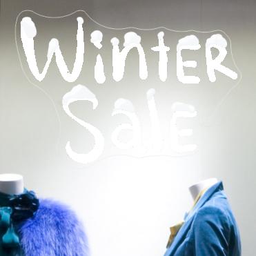 Winter Snow Sale Sticker