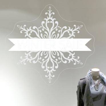 Ornate Winter Sale Sticker