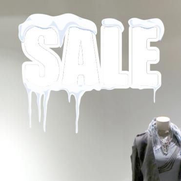 Snow Drift Winter Sale Sticker