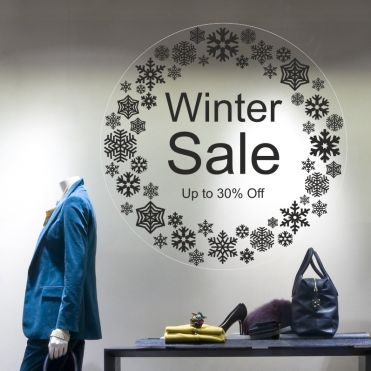 Custom Circle Winter Sale Sticker