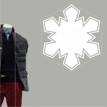 Snowflake 10% Discount Sticker