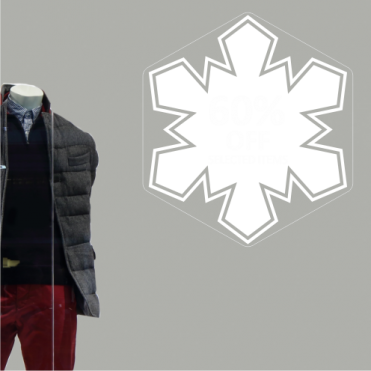Snowflake 60% Discount Sticker