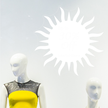 Sun 30% Discount Sticker