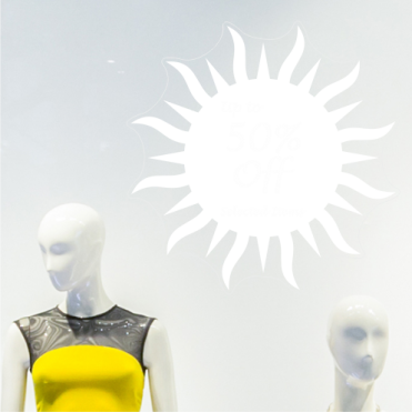 Sun 50% Discount Sticker