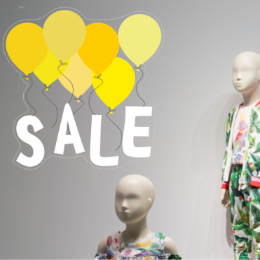 Yellow Balloon Sale Sticker