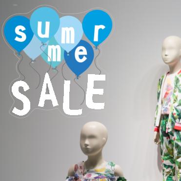 Blue Summer Sale Balloon Sticker