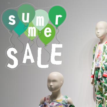 Green Summer Sale Balloon Sticker