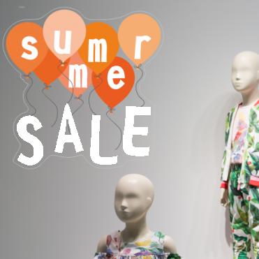 Orange Summer Sale Balloon Sticker