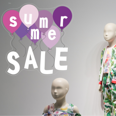 Purple Summer Sale Balloon Sticker