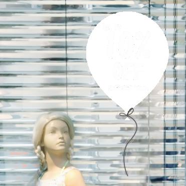 Balloon 10% Discount Sticker
