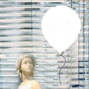 Balloon Discount Sale Sticker