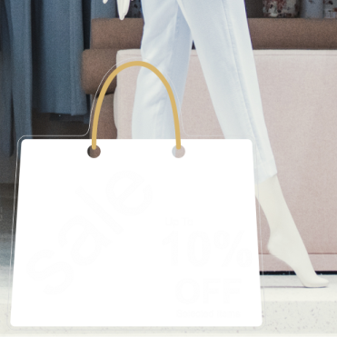 Bag 10% Discount Sticker