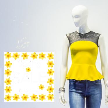 Daffodils Spring Sale Square