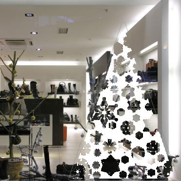 Snow Christmas Tree Sticker