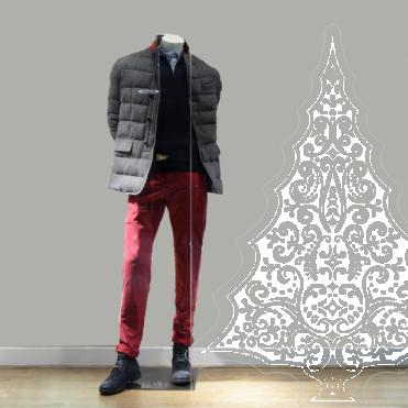 Ornate Christmas Tree Sticker