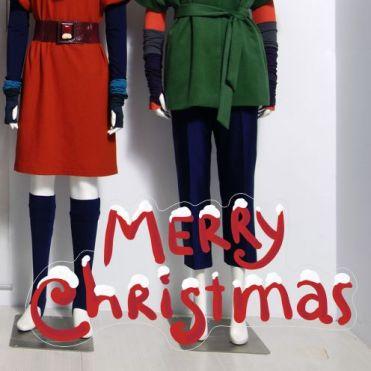 Snowy Christmas Text Sticker
