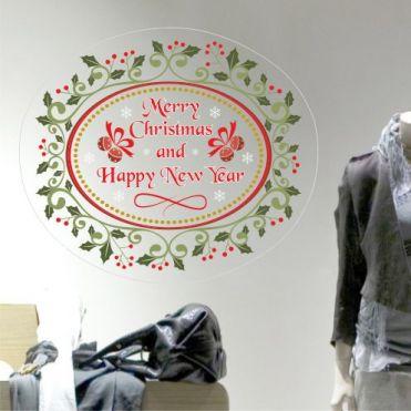 Oval Merry Christmas Sticker