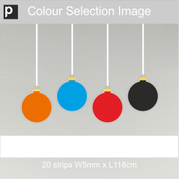 Coloured Ribbons For Plain Baubles
