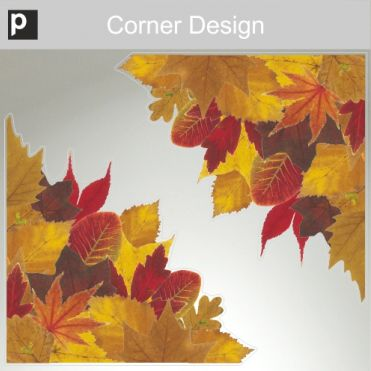 Photo Realistic Autumn Leaves Corners