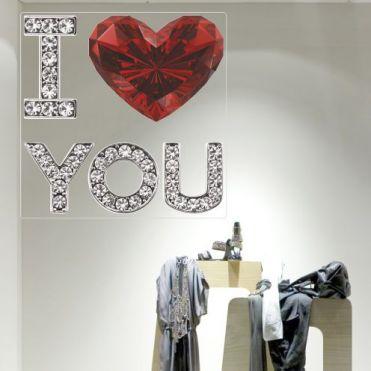 Jewelled Valentine's Day Sticker