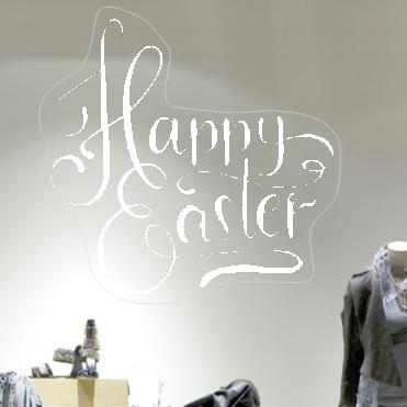 Scrolly Happy Easter Sticker
