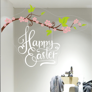 Happy Easter With Blossom Corner
