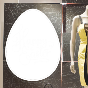 Happy Easter Text Egg