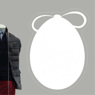Happy Easter Text Egg With Bow