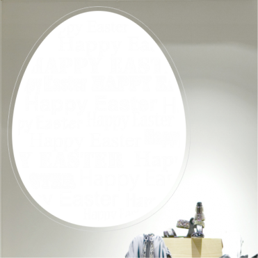 Mixed Happy Easter Text Egg