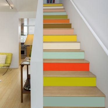 Vintage Colours Stair Stickers