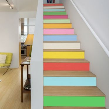 Spring Colours Stair Stickers