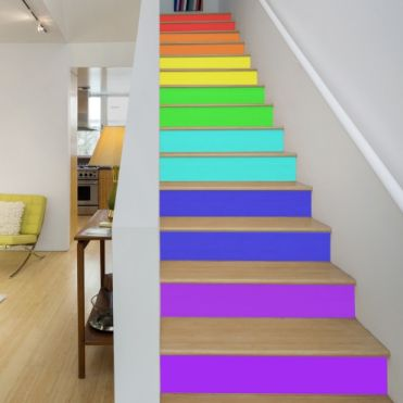 Spectrum Colours Stair Stickers