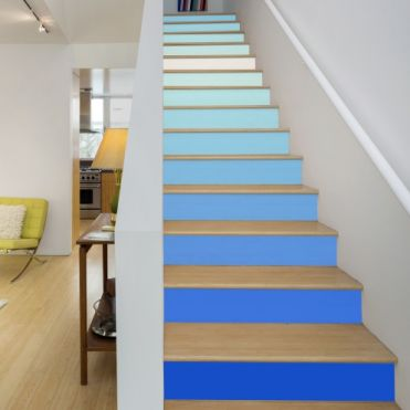 Blue Colours Stair Stickers