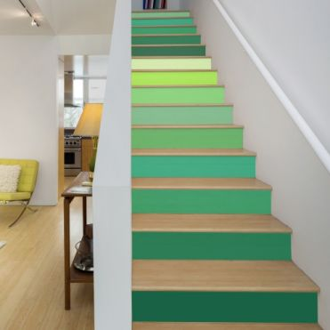 Green Colours Stair Stickers