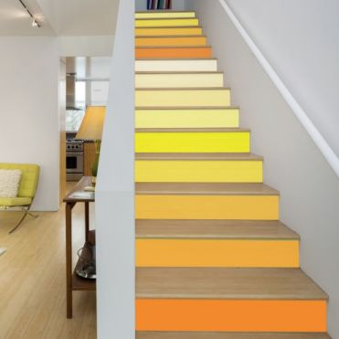 Yellow Colours Stair Stickers