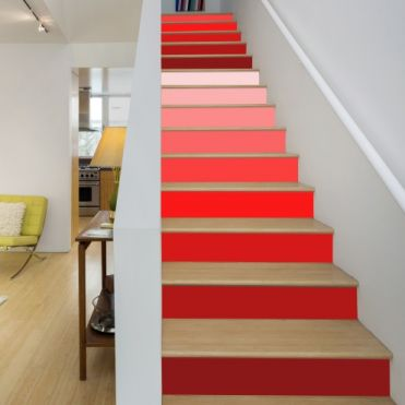Red Colours Stair Stickers
