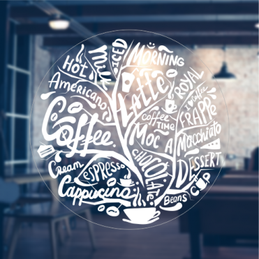 Coffee Tree Sticker