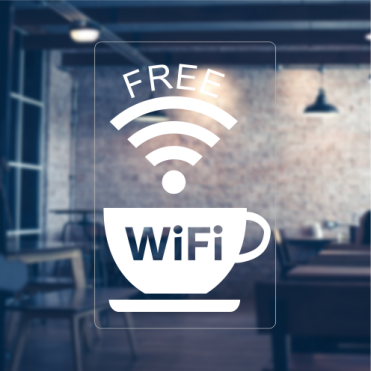 Free Wifi Cup Sticker
