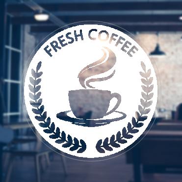 Coffee Laurels Sticker