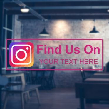 Instagram Social Media Sticker