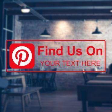 Pinterest Social Media Sticker