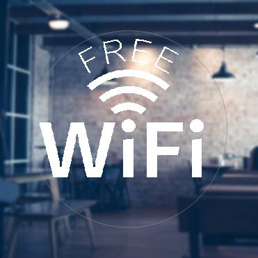 Curved Free Wifi Sticker