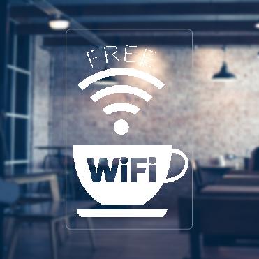Cup Free WiFi Sticker
