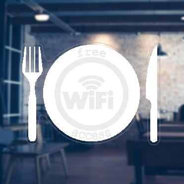 Plate Free WiFi Sticker